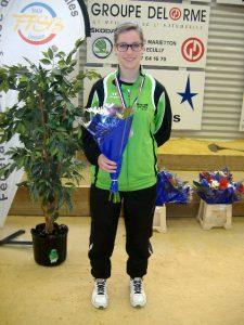 Olivia Four a obtenu la 3ème place et la médaille de bronze en tir de précision à Dardilly.