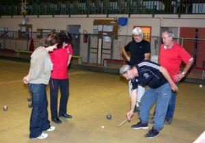 Les stagiaires ont découvert les différentes épreuves sportives avec Anthony Stanco