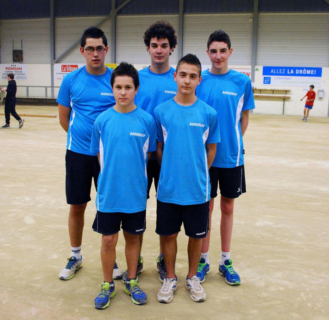 Les moins de 18 ans d'Annonay en demi-finales du Championnat de France des clubs