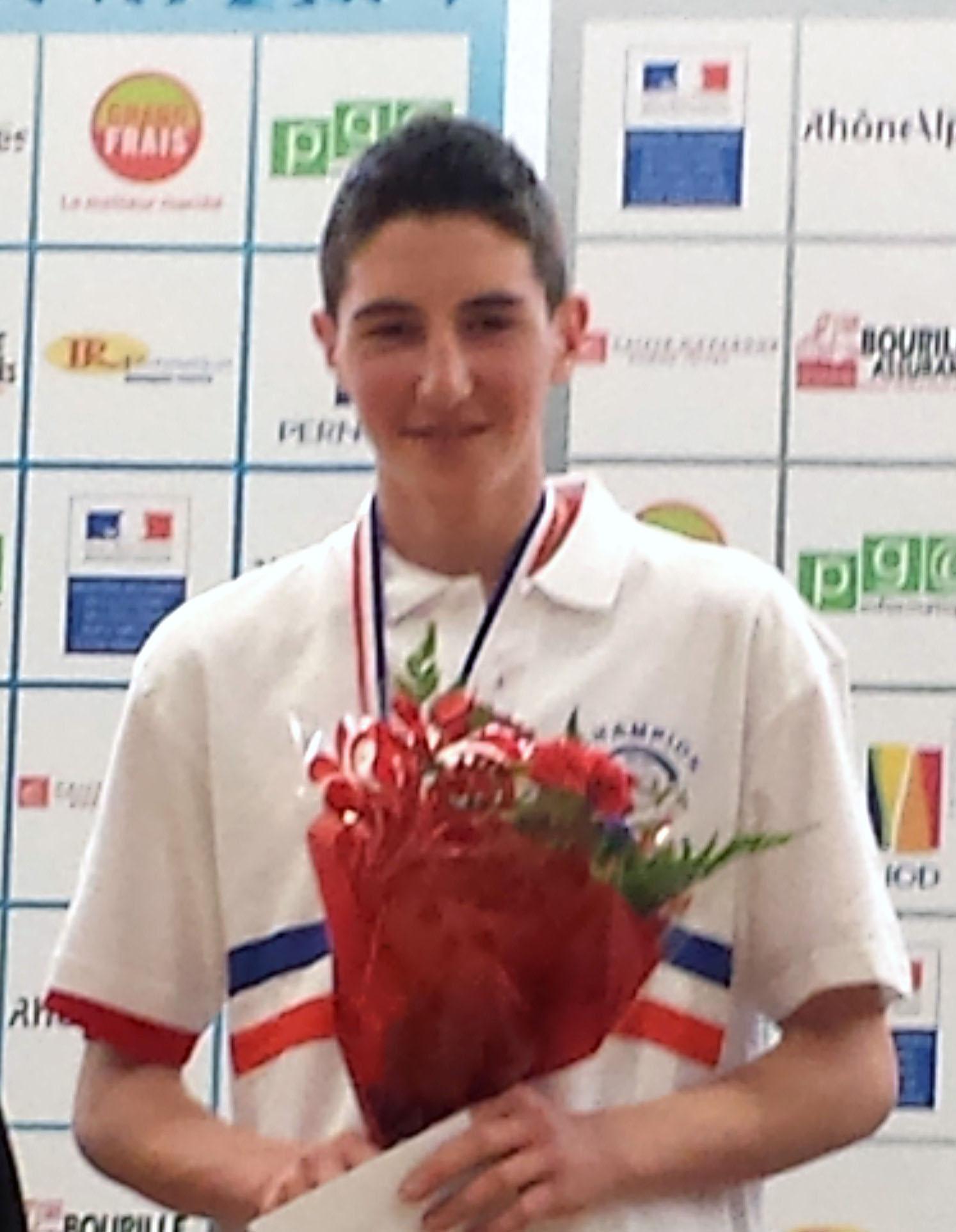 Un titre de champion de France avec Hugo Revollon