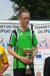 Alicia Sapet, gagnante de la coupe de France