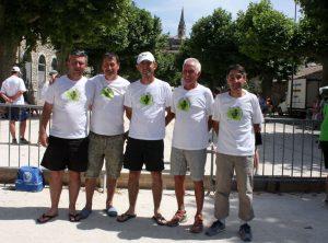 L'équipe du secteur de Lamastre est qualifiée : Maxime Riouffreyt, Nicolas Michon, Philippe Rissoan, Louis Chantre et Denis Abel.