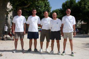 L'équipe du secteur d'Aubenas est qualifiée : Daniel Ozil, René Forissier, Alex Terrisse, Dominique Arsac et Laurent Barbe.