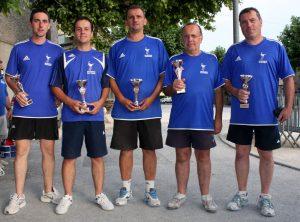 Les sous-champions sont du secteur d'Annonay : Adrien Sauvignet, Pascal Desmartin, Laurent Girodet, Nicolas Veure et Bernard Beal.