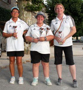 Les sous-championnes de l'Ardèche sont du secteur d'Annonay : Sandra Chopard, Vanessa Vernet, Josiane Grand et Elodie Coste (absente sur la photo).