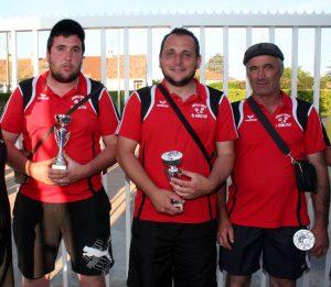 Yoan et Michel Sonnier et Freddy Chevret sont sous-champions de l'Ardèche
