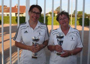 Josie Deygas et Doriane Guigal (Annonay) sont championnes de l'Ardèche