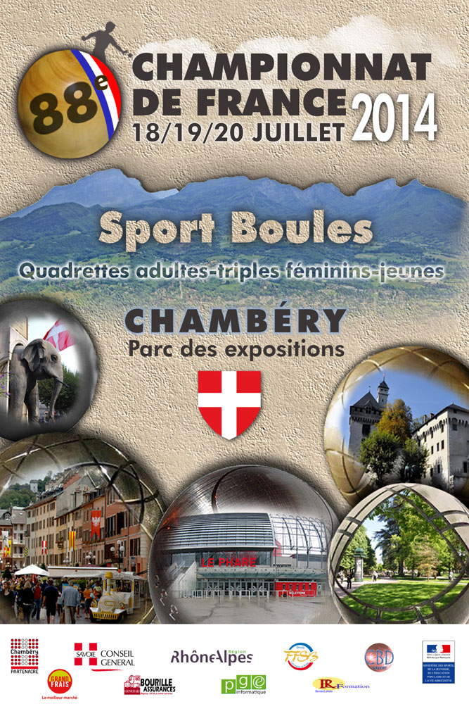 Tirage des championnats de France quadrettes
