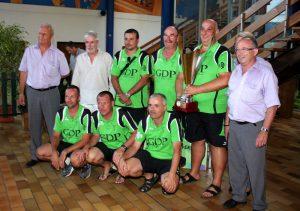 L'équipe Verne au complet avec les représentants de la FFSB et Jean-François Gobertier