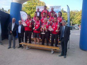 L'équipe de Vals les Bains sous-championne de France