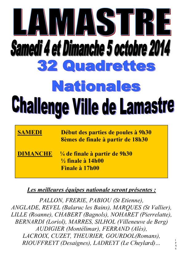 Les concours nationaux d'octobre en Ardèche
