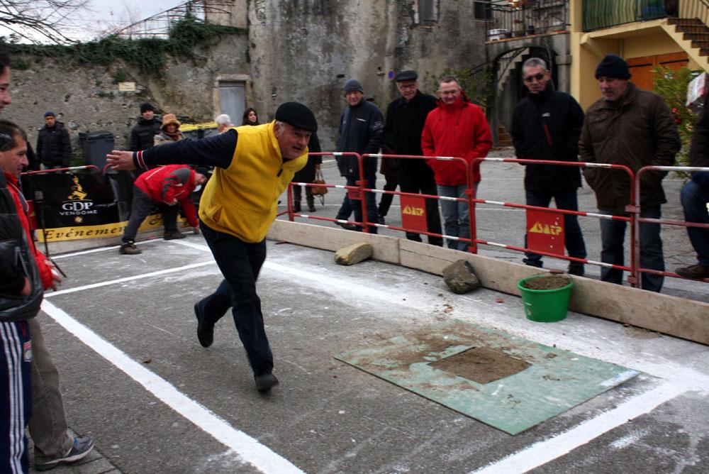 Démonstration de tir sportif pour la fête de la bugne
