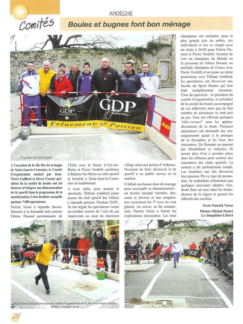 L'Ardèche sur Sport Boules