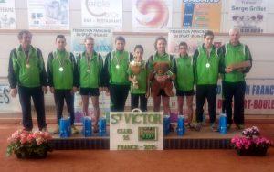 L'équipe des moins de 15 était composée de Baptiste Astic, Thomas Bonnefoy, Antoine Fromentoux, Yoann Maire, Romain Palisse, Juliette Ponsonnet et Alicia Sapet.