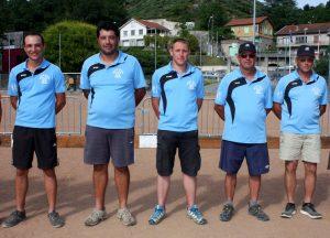 L'équipe des demi-finalistes qui a échoué à la qualificative