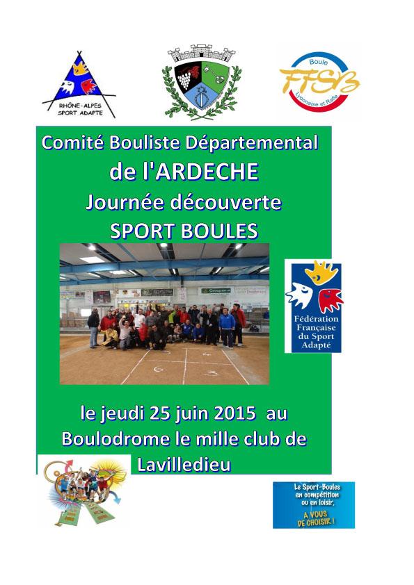 Sport adapté, journée découverte du sport boules à Lavilledieu