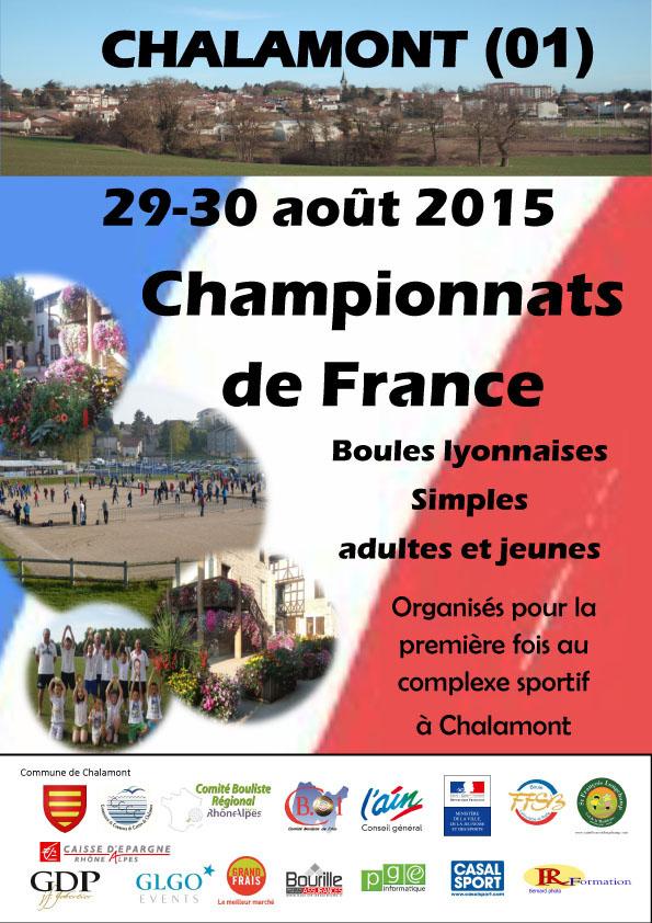 Tirage des championnats de France en simple