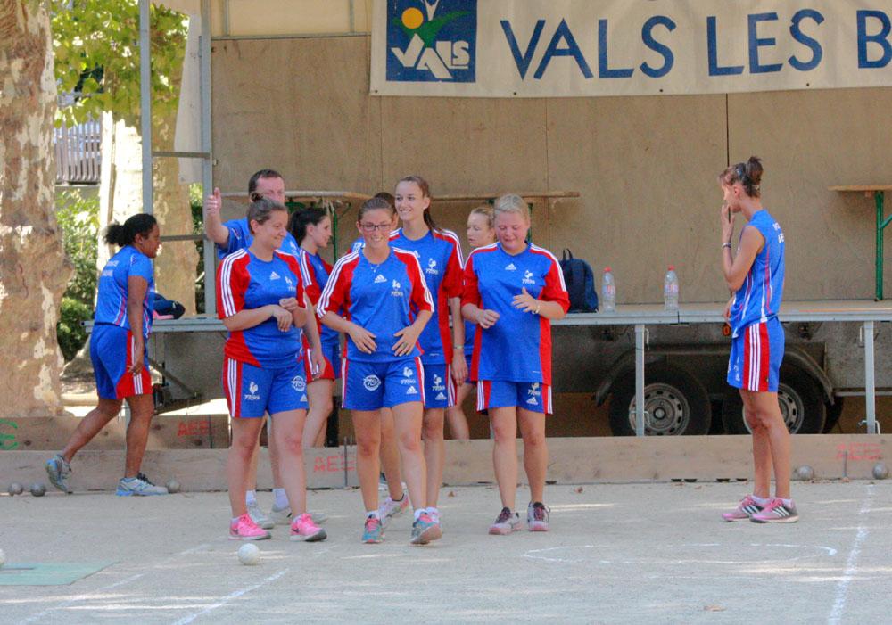 L'équipe de France féminine était à Vals les Bains