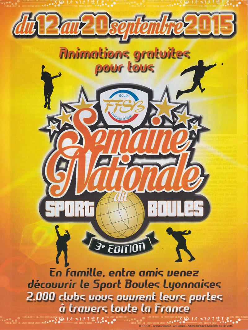 3ème édition de la semaine nationale du Sport Boules