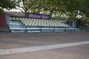 Des tribunes ont été disposées pour les parties finales à Lavilledieu