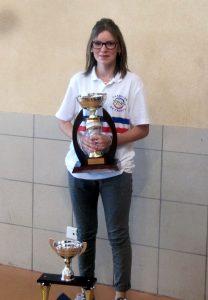 Alicia Sapet de Saint Victor, Championne de France de tir progressif F-15 à Dardilly et championne de France simple à Chalamont F-15.
