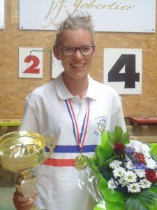 En 2015, Alicia Sapet a été sacrée championne de France en moins de 15 ans
