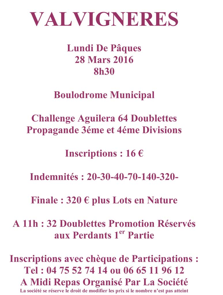 Inscrivez-vous à Valvignères