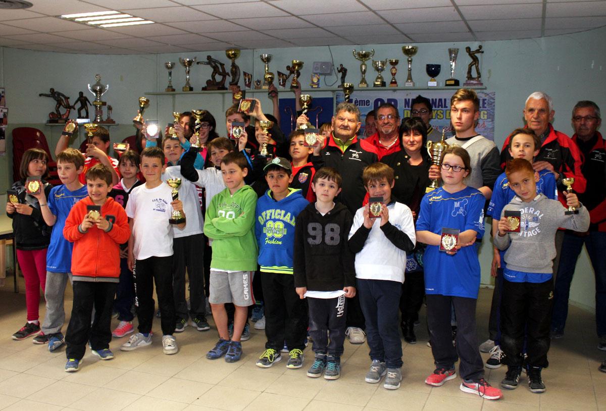 Belle participation au 6ème challenge des jeunes à Villeneuve de Berg