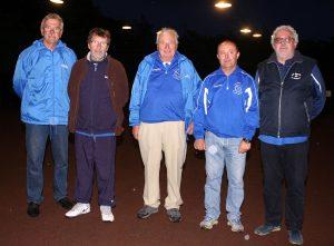 Les perdants de la partie de barrage : Labégude (Robert Dominget, Bernard Ranchon, Bruno Sauzée, Marc Devès et Jean-François Dufour)