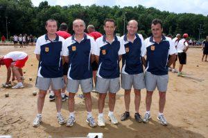 Julien Fontanel, Pascal Fourezon, Stéphane Aubert, Raphael Riou et Philippe Vigne (secteur de Lamastre)