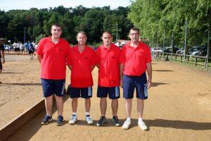 Christian Bernard, Gewem Bernard, Michel Fosse et Antoine Chavanon (secteur d'Annonay)