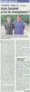 Pages sports du Dauphiné Libéré du 25 août