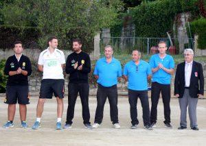 Les finalistes avant le lancer de but