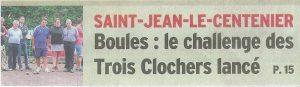Page une du Dauphiné Libéré du 1er octobre