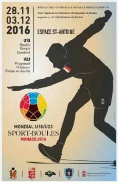 Mondial des jeunes U18 et U23 à Monaco