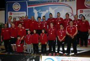 Les sous-champions de France sur le podium
