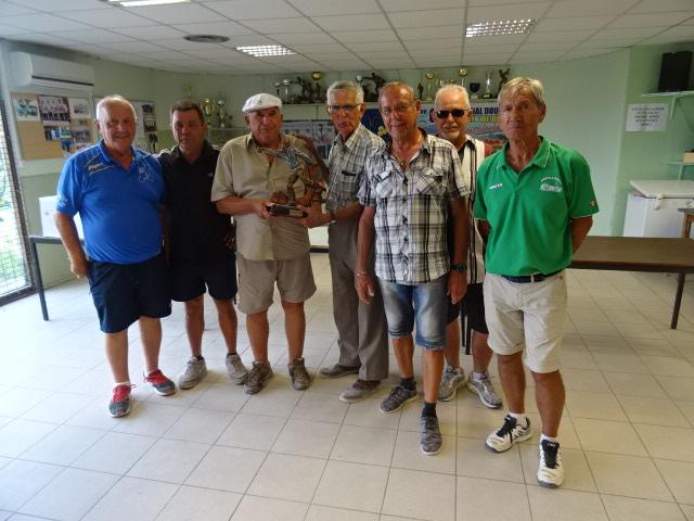 Résultats vétérans à Villeneuve de Berg