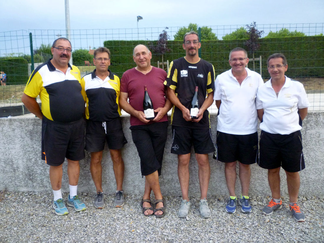 Chapus Vert  vainqueurs du 64 doublettes d'Ardoix-Quintenas