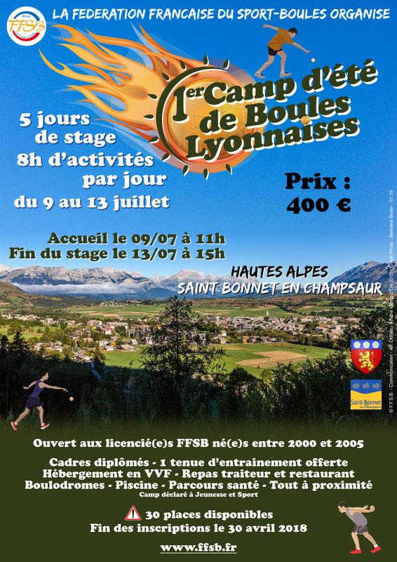 Premier camp d'été « Boule lyonnaise »