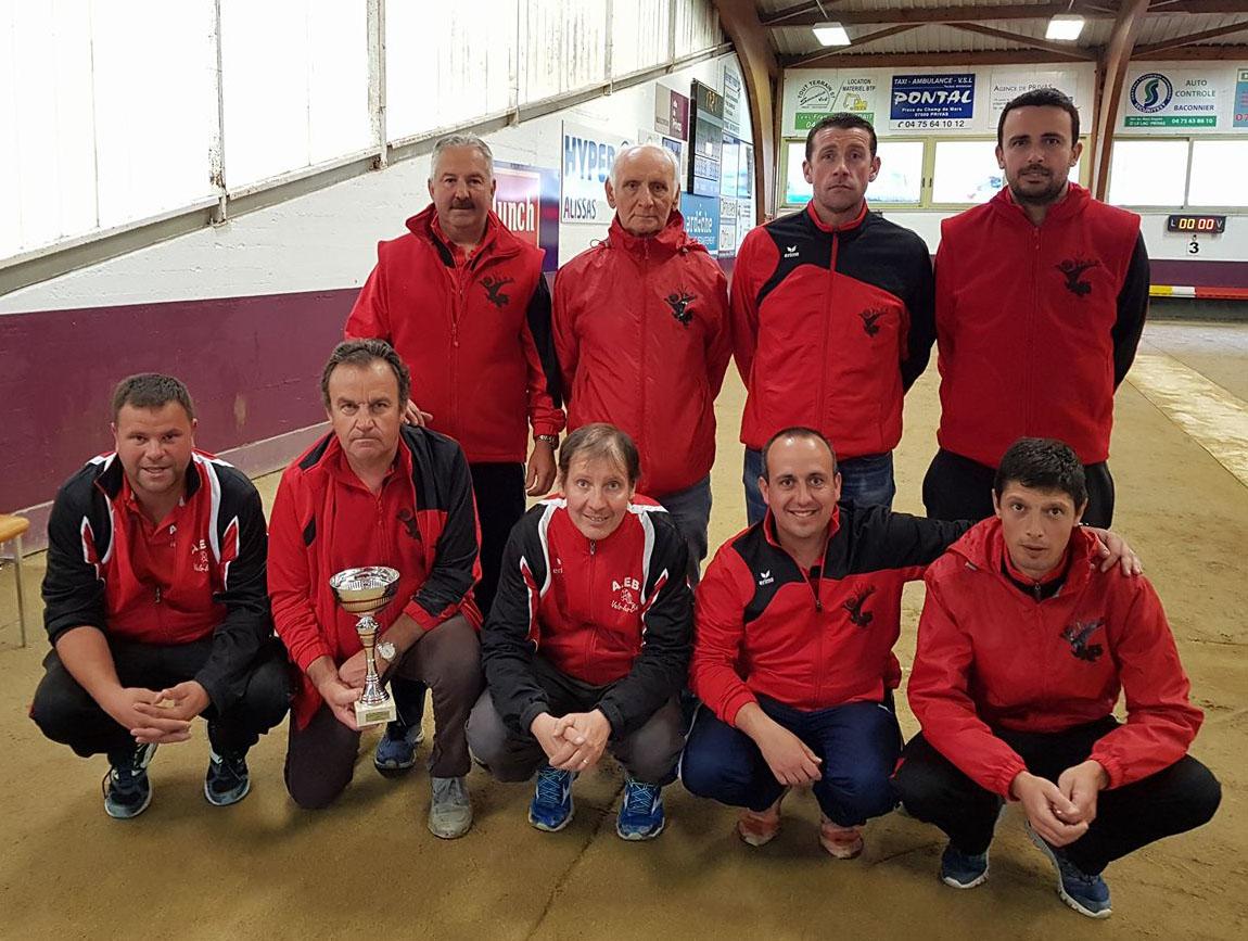 Les Valsois sont champions de l'Ardèche