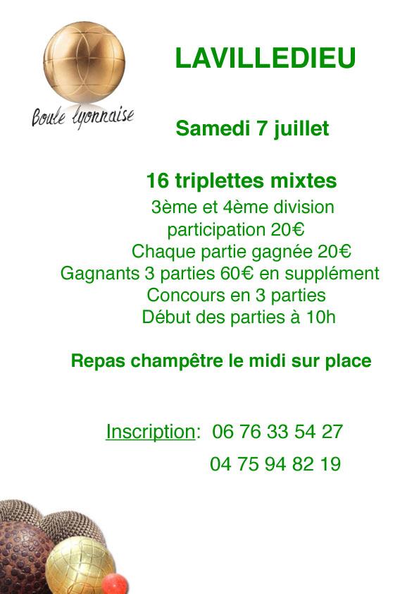 Equipes mixtes, inscrivez-vous à Lavilledieu