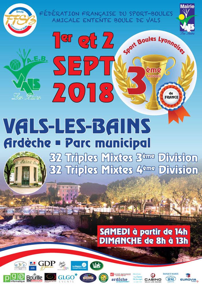 Troisième édition du Trophée de France à Vals les Bains