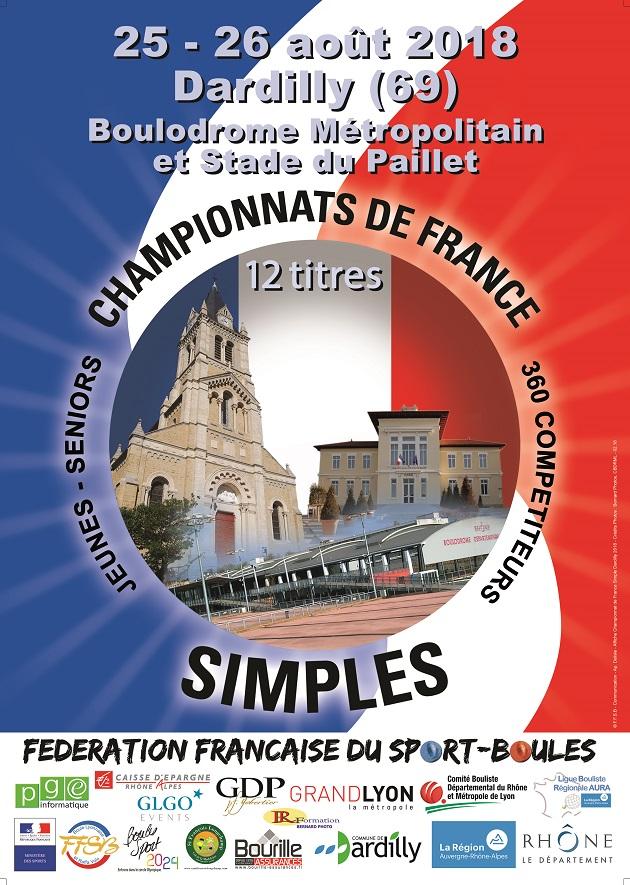 Horaires des Championnats de France Simple
