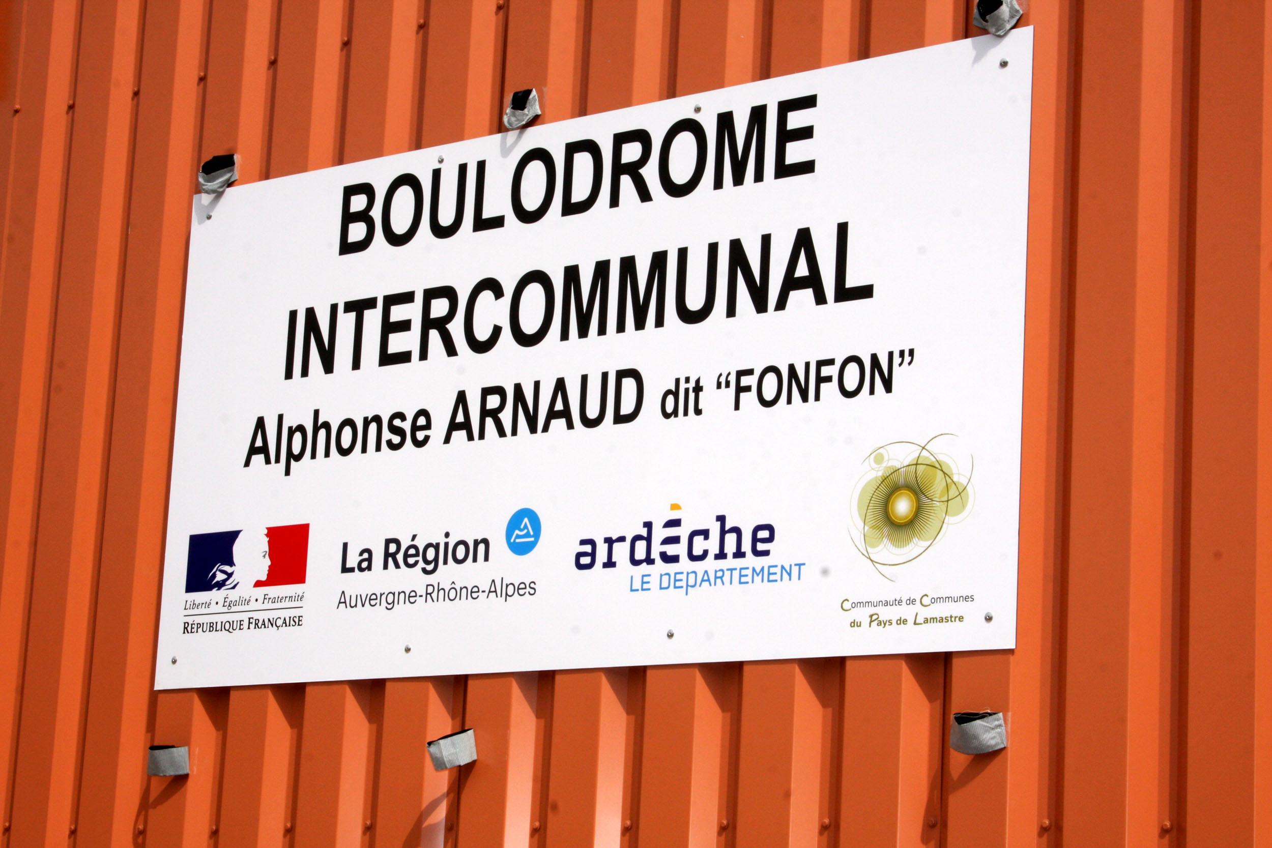 Inauguration de la rénovation du boulodrome de Lamastre
