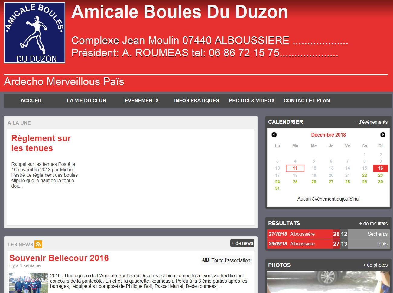 Un site Internet pour Alboussière