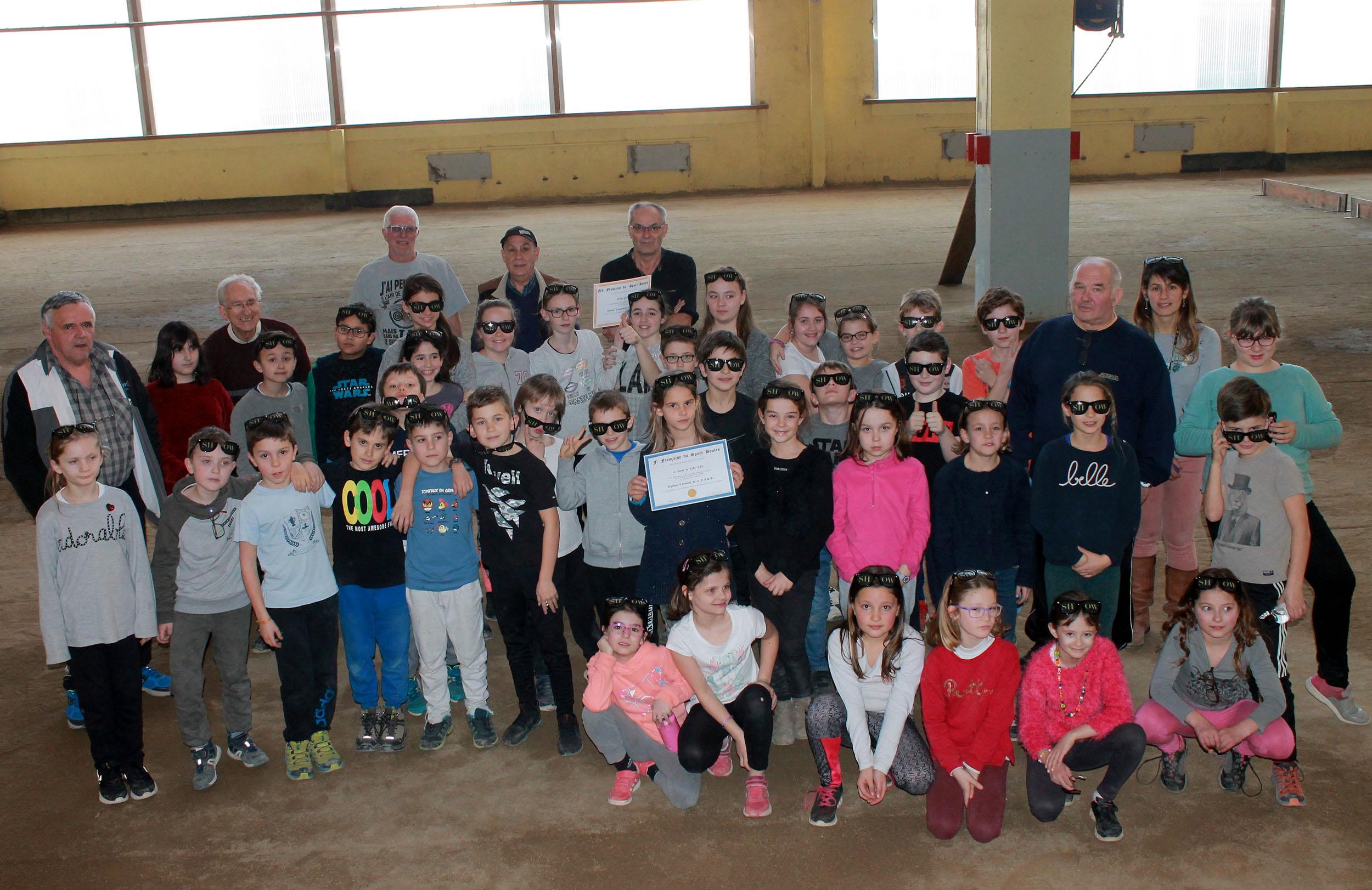 Une belle fin d'apprentissage du sport boule au Cheylard