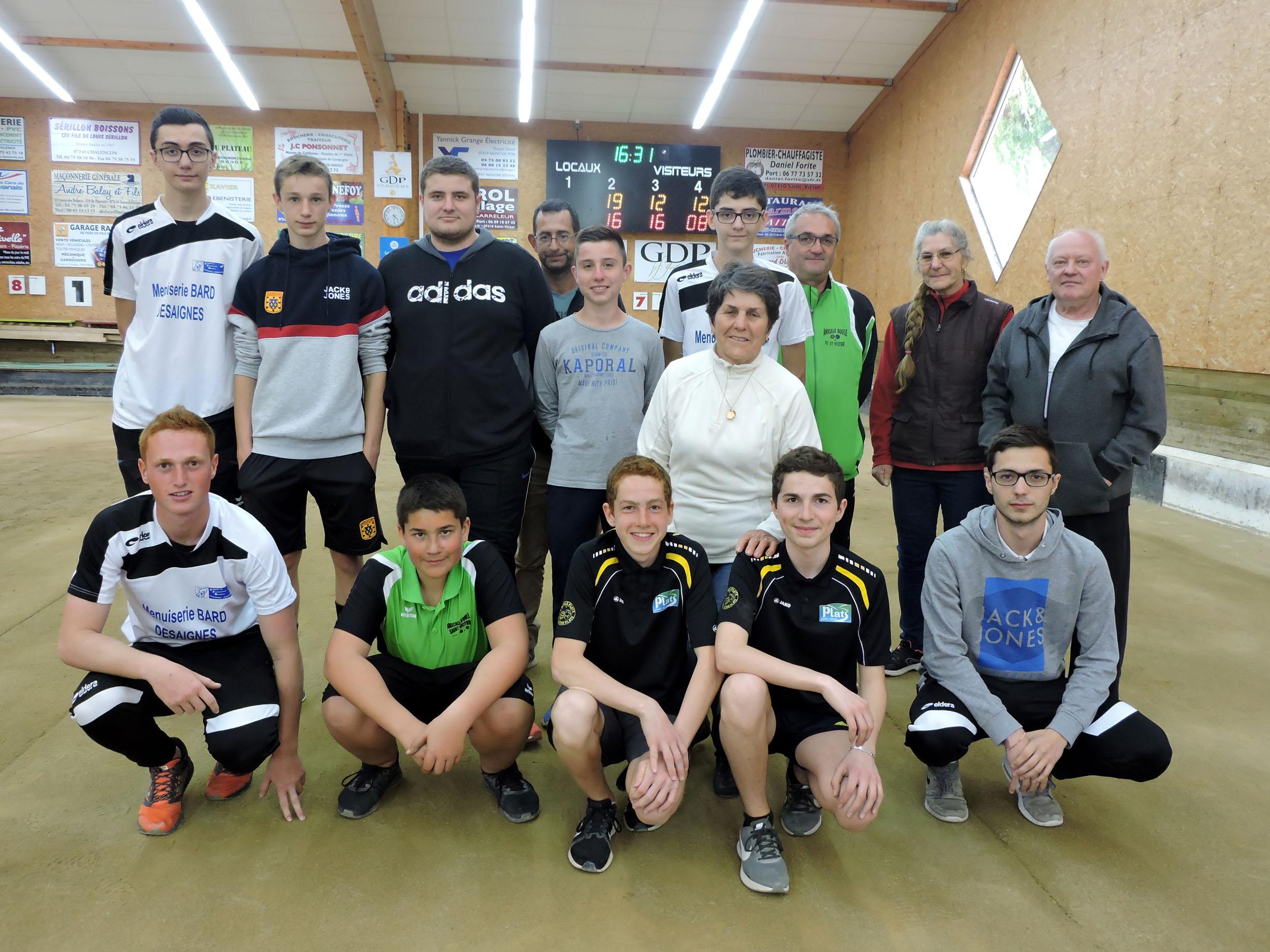 Les jeunes qualifiés pour le Championnat de France combiné