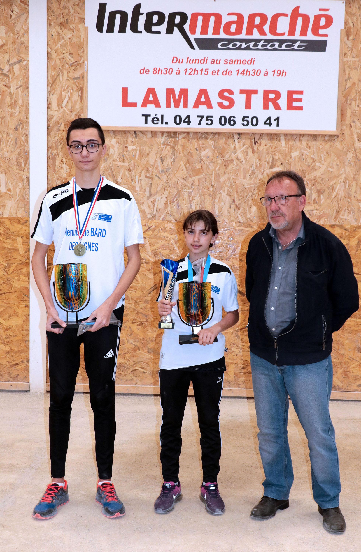 Réception pour les jeunes champions du CFB Lamastre Désaignes