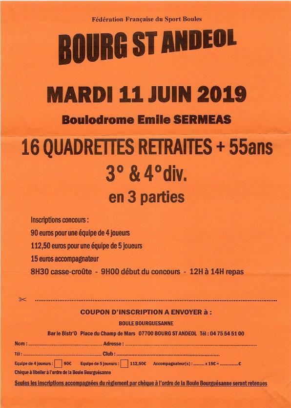 Vétérans inscrivez-vous à Bourg Saint Andéol