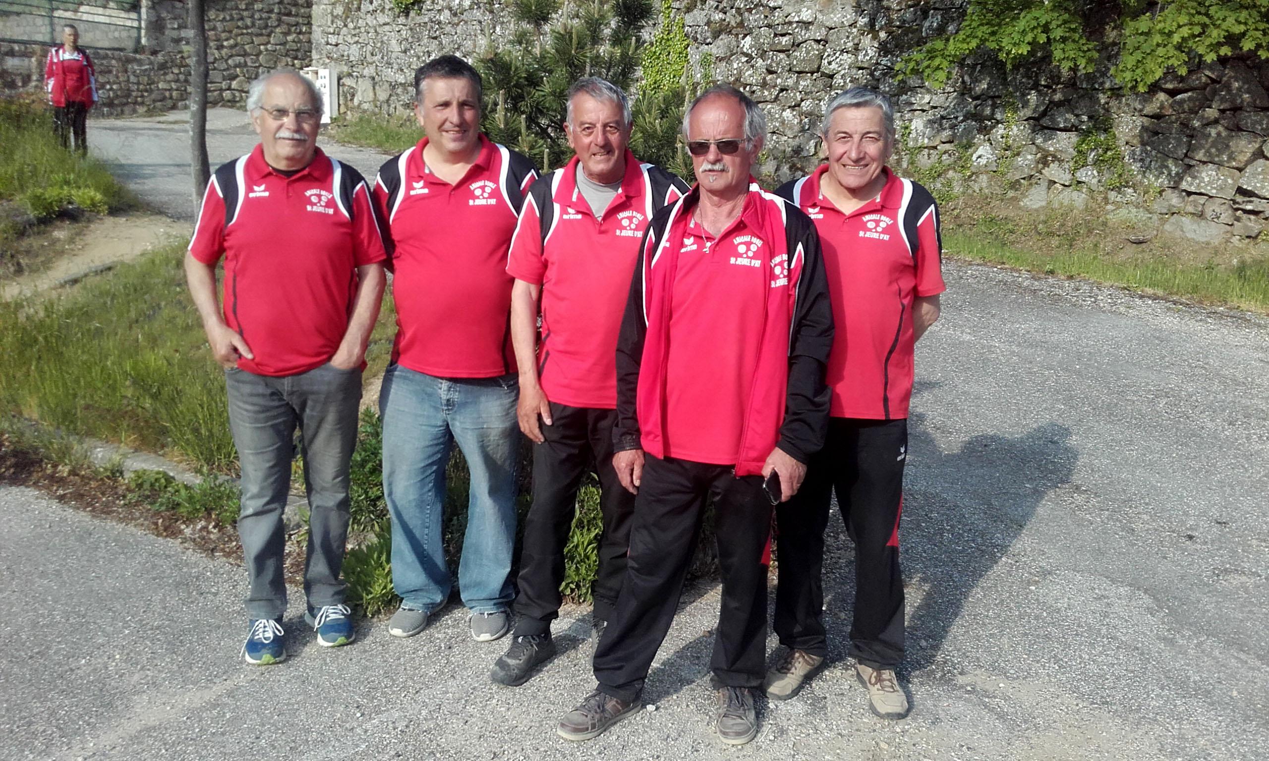 Les trois équipes qualifiées du secteur d'Annonay